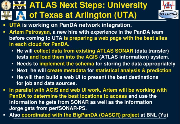ATLAS Next Steps: University of Texas at Arlington (UTA)
