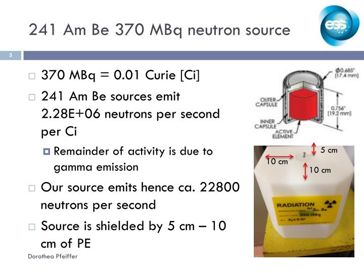 241 am be 370 mbq neutron source