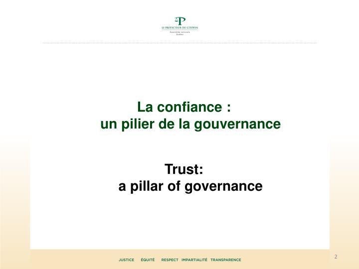 La confiance :