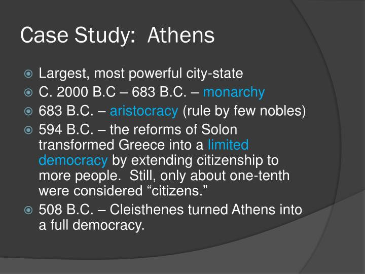 Case Study:  Athens