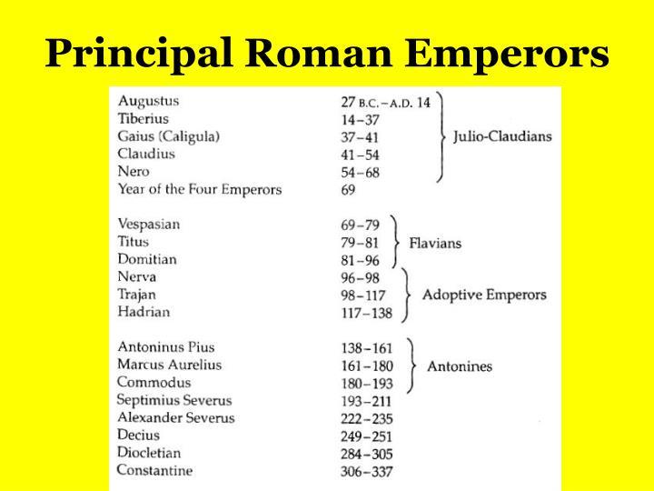 Principal Roman Emperors