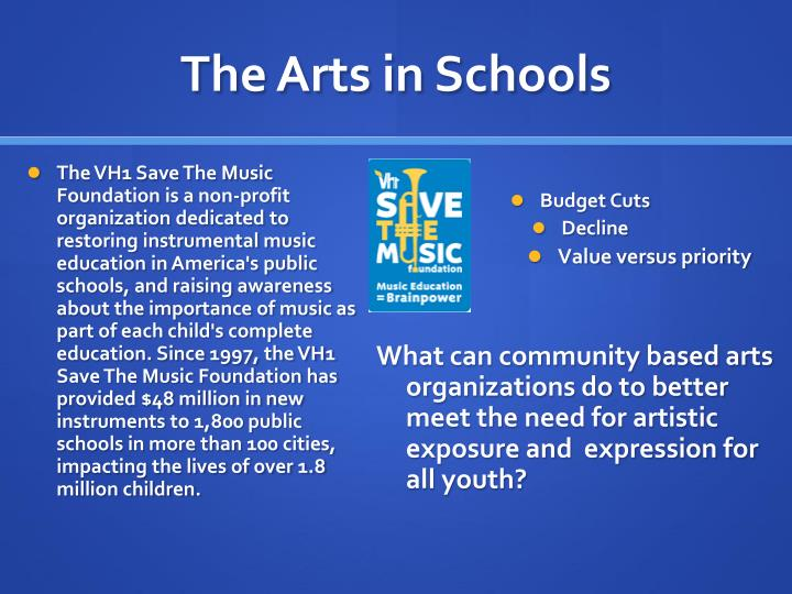 The Arts in Schools