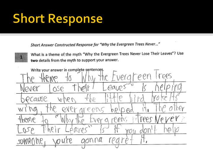 Short Response