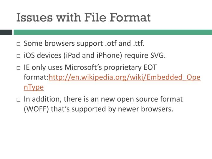 Issues with File Format