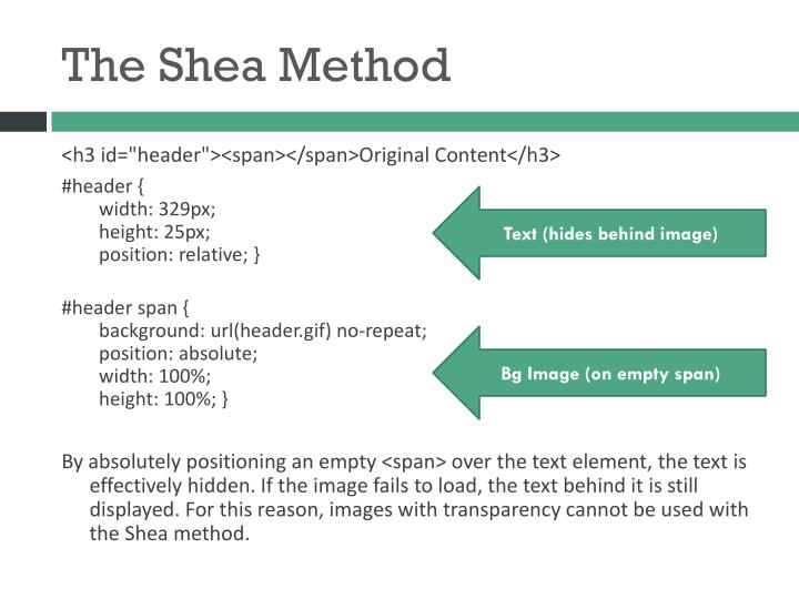 The Shea Method