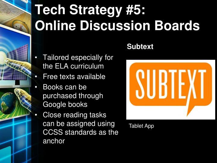 Tech Strategy #5:
