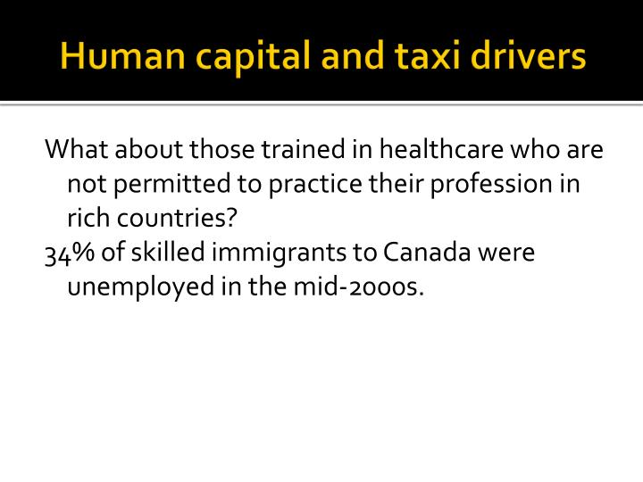 Human capital and taxi drivers