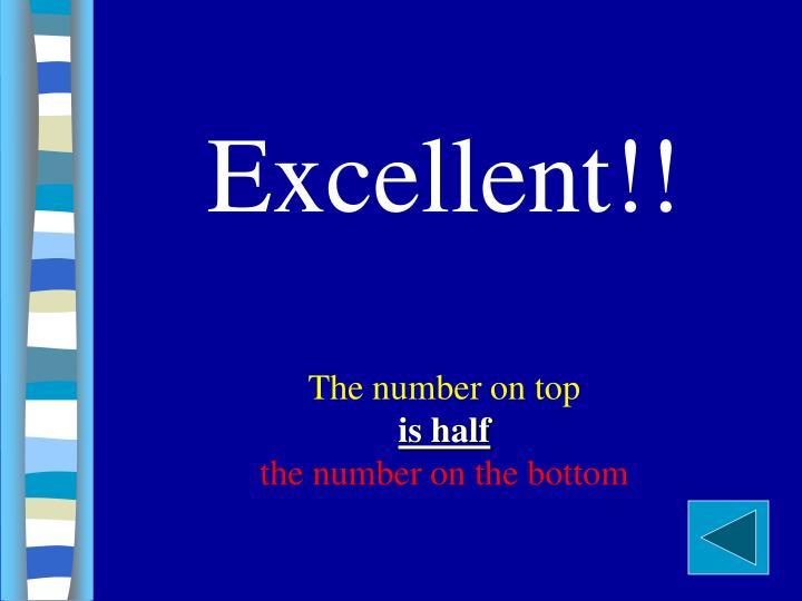 Excellent!!