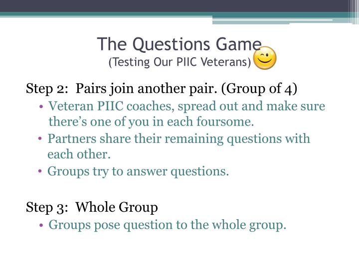 The Questions Game