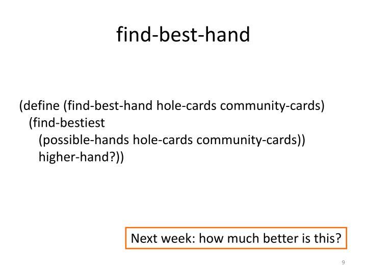 find-best-hand