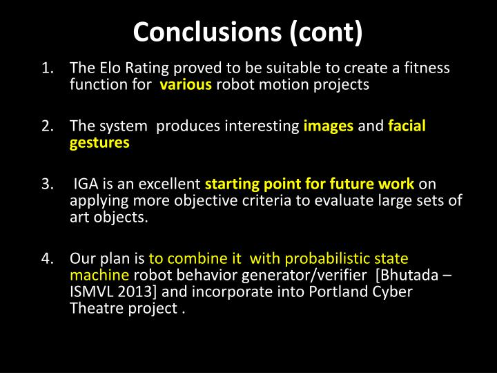 Conclusions (