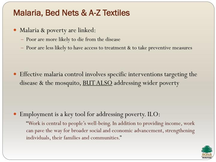 Malaria, Bed Nets & A-Z Textiles