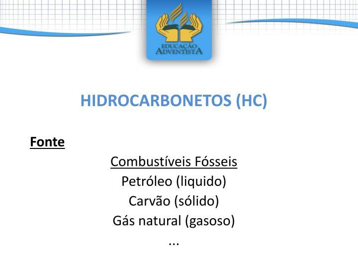 HIDROCARBONETOS (HC)