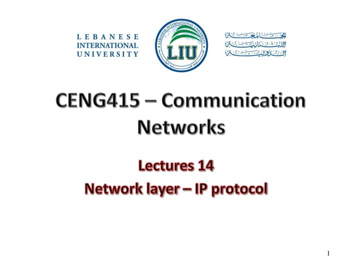 Ceng415 communication networks