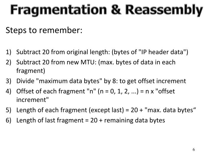 Fragmentation & Reassembly