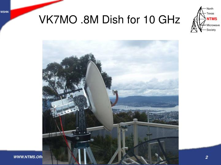 VK7MO .8M Dish for 10 GHz