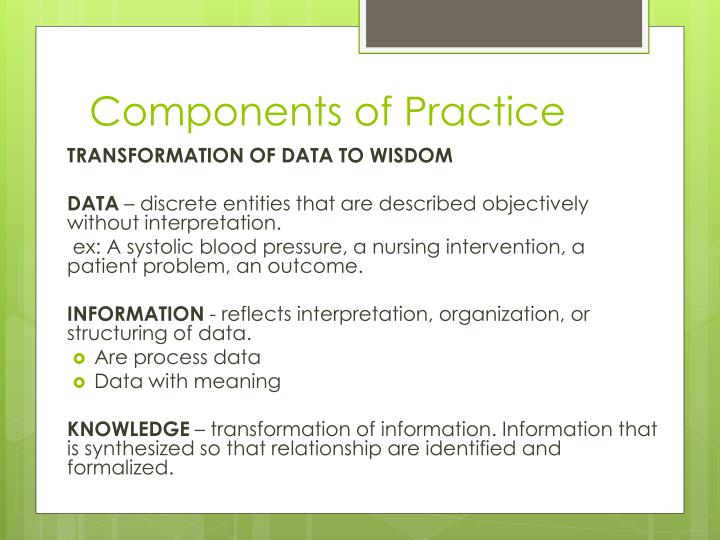 Components of Practice