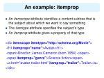 an example itemprop