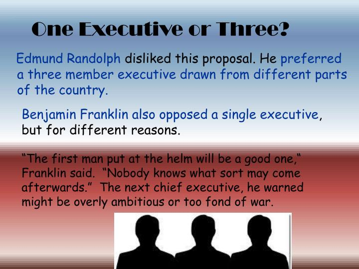 One Executive or Three?
