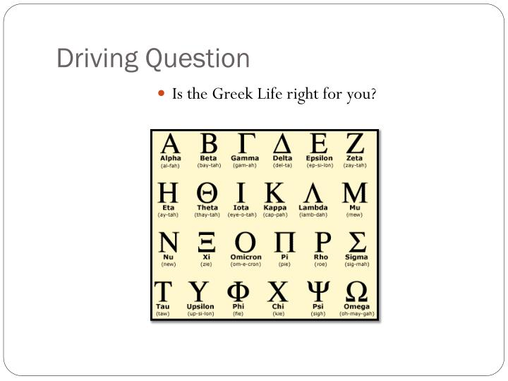 Driving Question