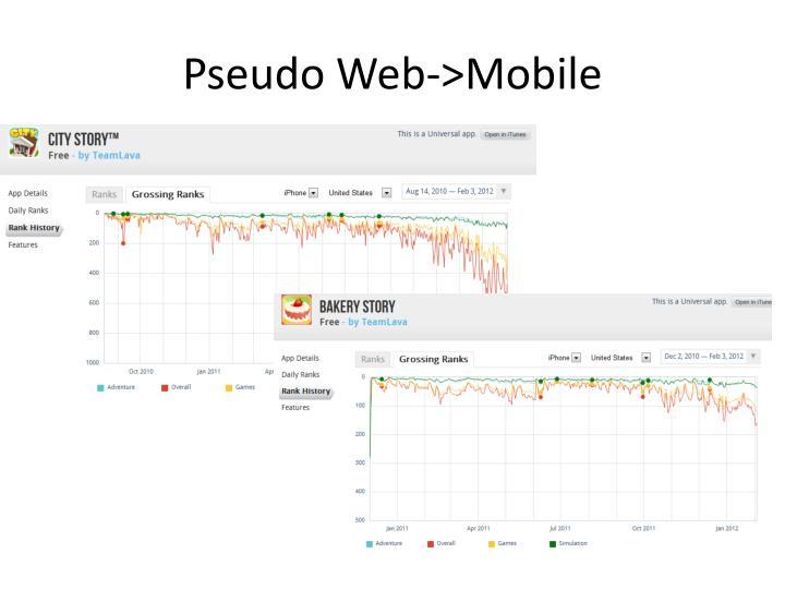 Pseudo Web->Mobile