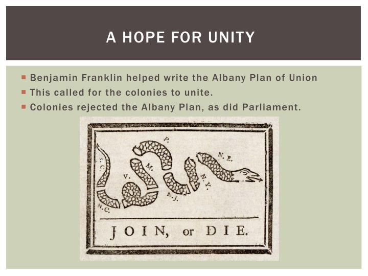A hope for unity