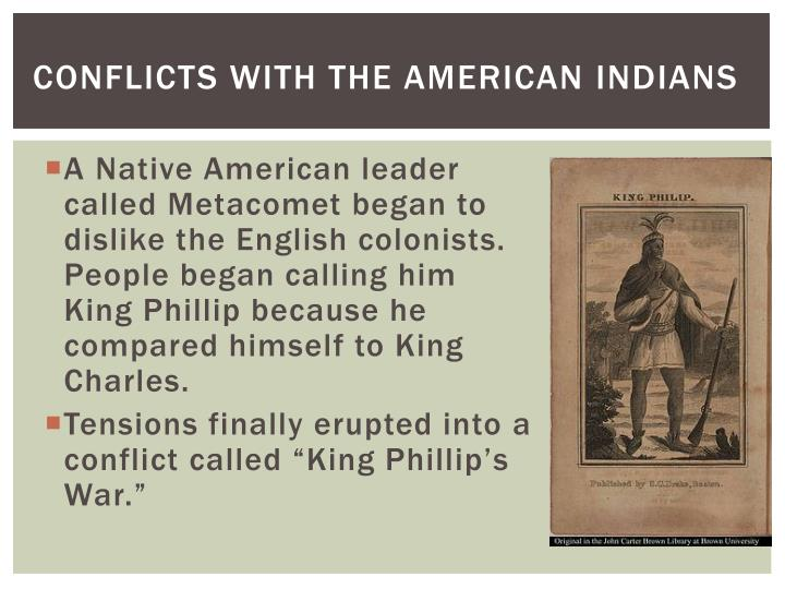Conflicts with the american indians