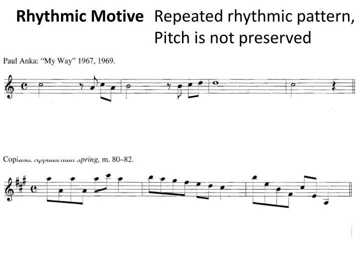 Rhythmic Motive