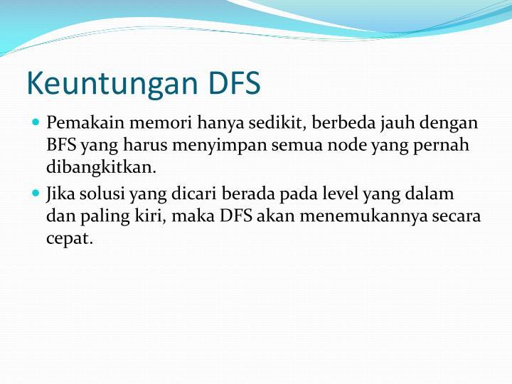 Keuntungan DFS