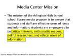 media center mission