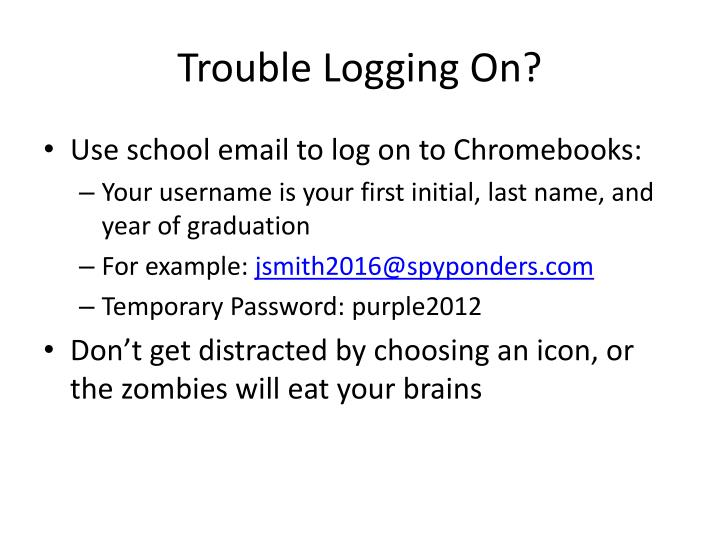 Trouble Logging On?