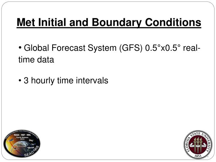 Met Initial and Boundary Conditions