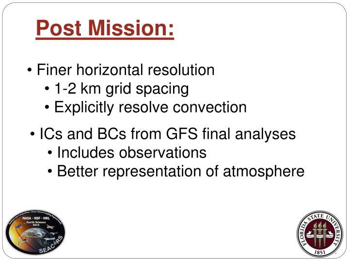 Post Mission: