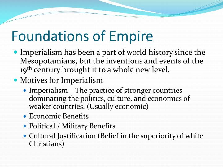 Foundations of Empire