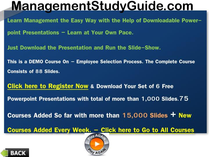 Learn Management the Easy Way with the Help of Downloadable Power-point Presentations