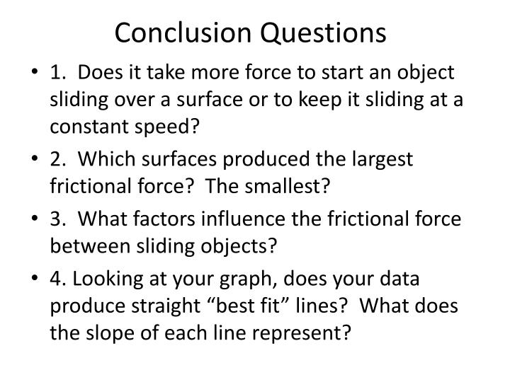 conclusion questions 1 How to write a conclusion in a conclusion paragraph, you summarize what you've written about in your paper when you're writing a good conclusion paragraph, you need to think about the main point that you want to get across and be sure it's included.