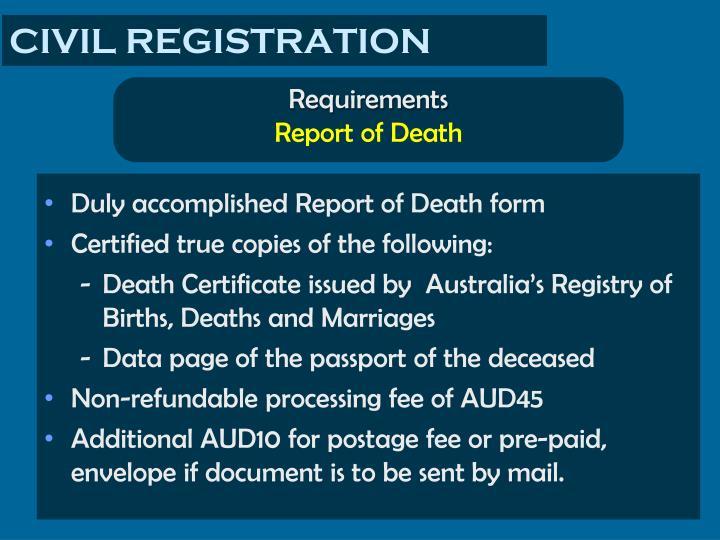 CIVIL REGISTRATION