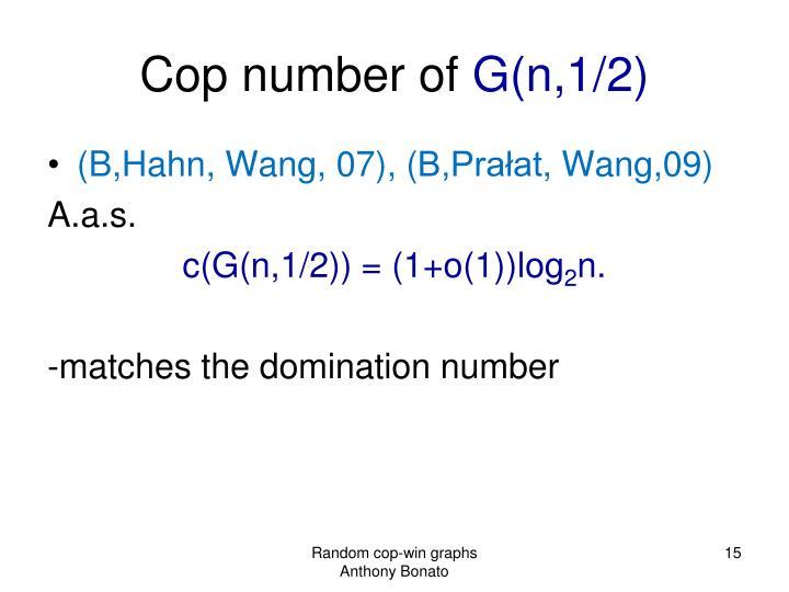 Cop number of