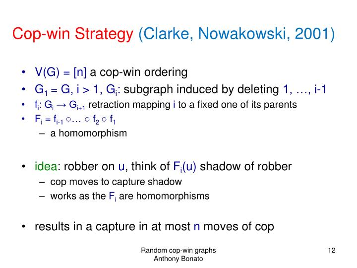 Cop-win Strategy