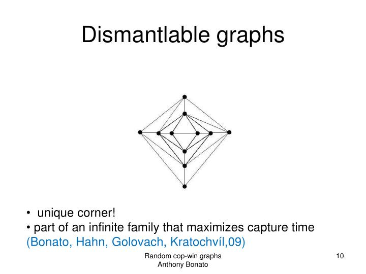Dismantlable graphs