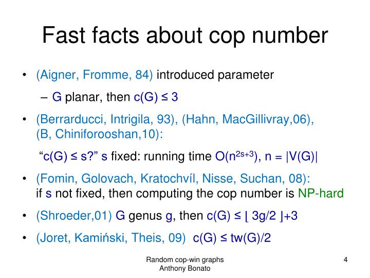Fast facts about cop number
