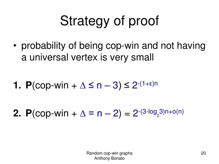 Strategy of proof