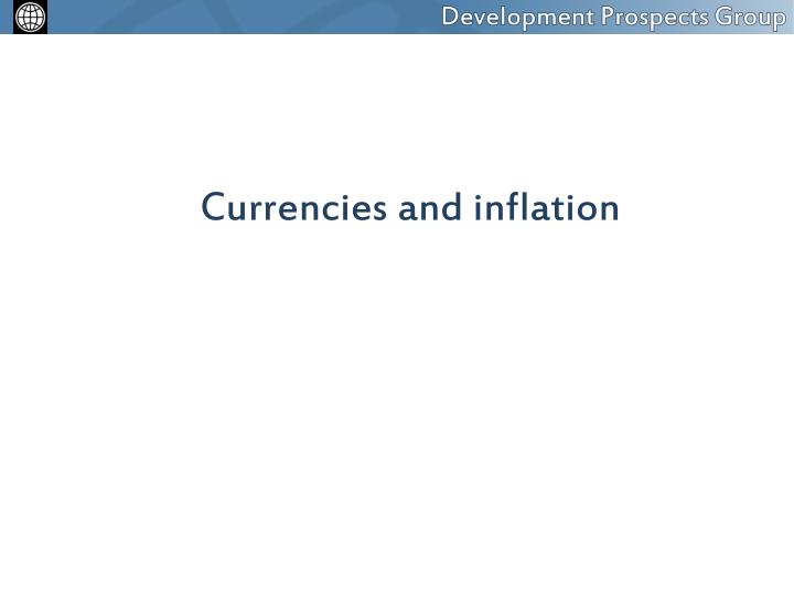 Currencies and inflation