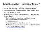 education policy success or failure
