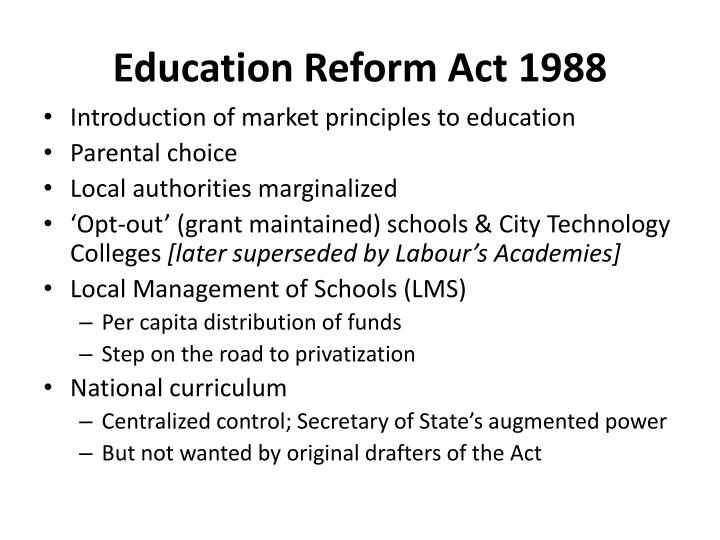 Education Reform Act 1988