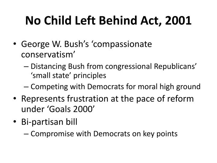 No Child Left Behind Act, 2001