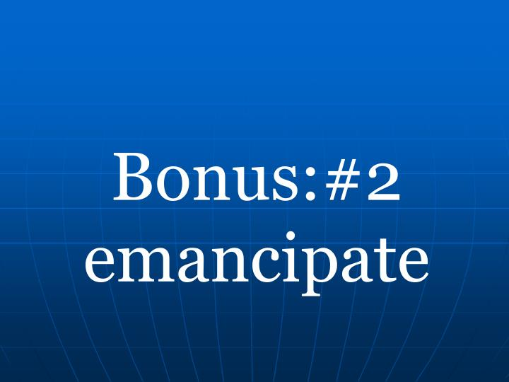 Bonus:#2