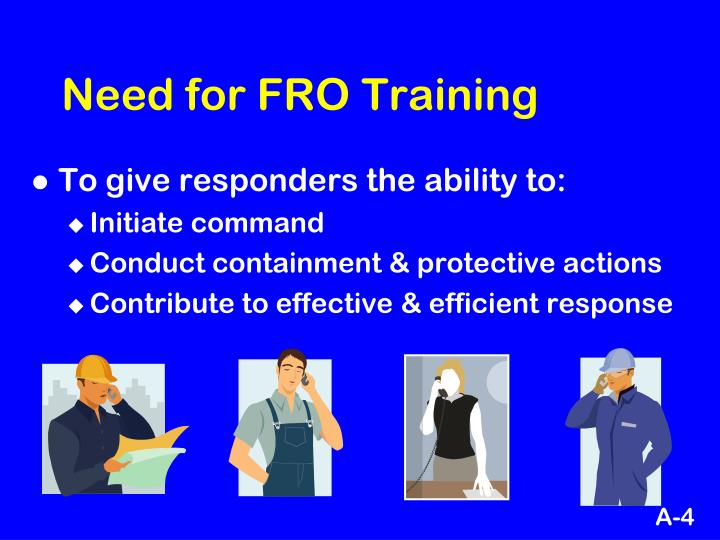 Need for FRO Training