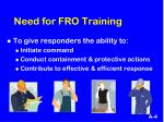 need for fro training2