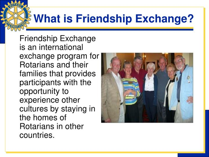 What is Friendship Exchange?